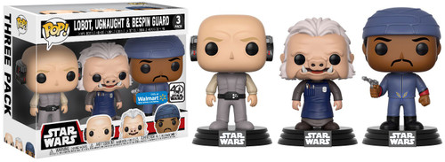 Funko POP! Star Wars Lobot, Ugnaught & Bespin Guard Exclusive Vinyl Bobble Head 3-Pack [Cloud City, Damaged Package]