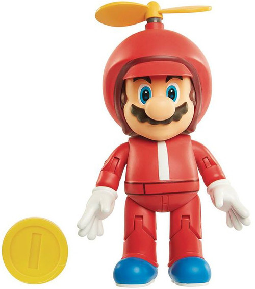 World of Nintendo Wave 13 Propeller Mario with Coin Action Figure [Damaged Package]