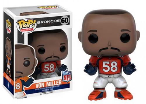 Funko NFL Denver Broncos POP! Sports Football Von Miller Vinyl Figure #60 [Orange Jersey, Damaged Package]