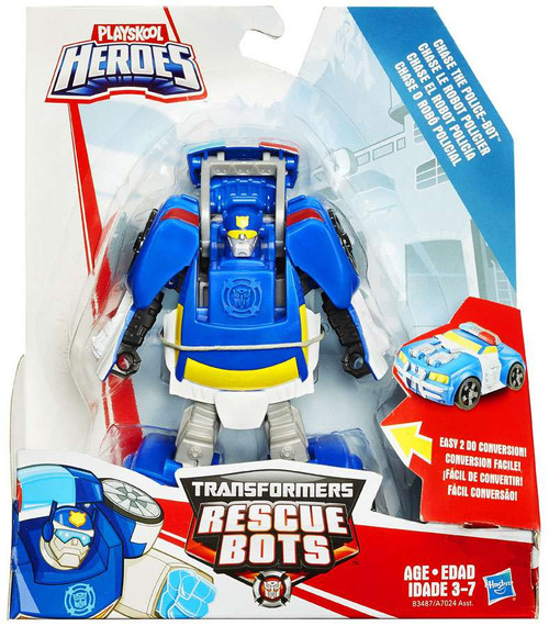 Transformers Playskool Heroes Rescue Bots Chase the Police Bot Action Figure [Rescan, 2015, Damaged Package]