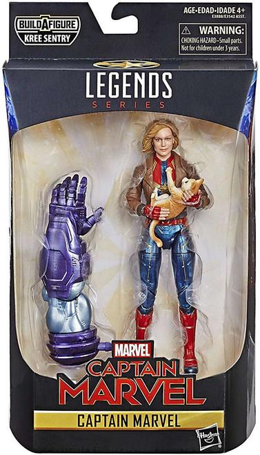 Marvel Legends Kree Series Captain Marvel Action Figure [Bomber Jacket, Loose]