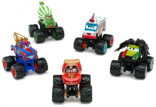 Disney / Pixar Cars Cars Toon Monster Truck Exclusive PVC Figurine Set [Damaged Package]