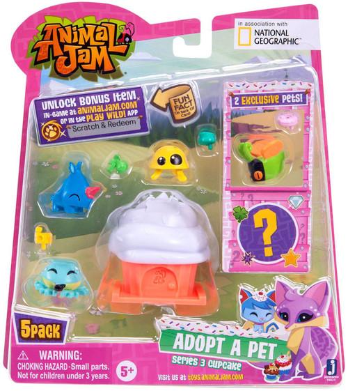 Animal Jam Series 3 Cupcake Mini Figure 5-Pack #1 [White, Damaged Package]