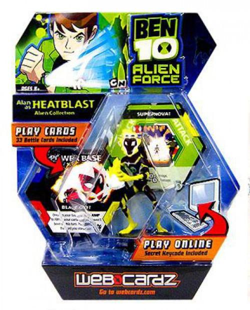 Ben 10 Alien Force Web Cardz Alan as Heatblast Starter Set [Damaged Package]