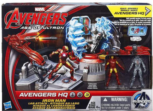 Marvel Avengers Age of Ultron Iron Man Attack Lab Action Figure Set [Damaged Package]
