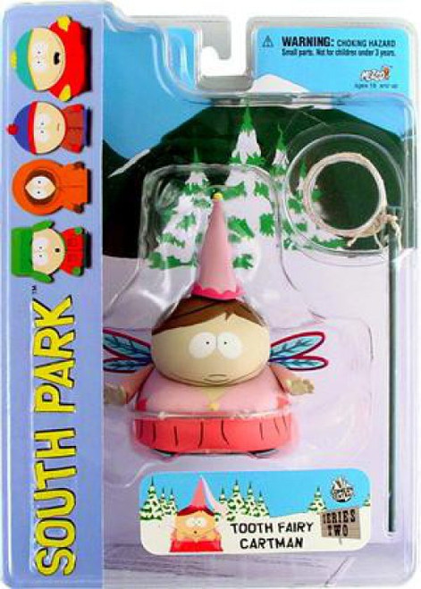 South Park Series 2 Cartman Action Figure [Tooth Fairy, Mouth Closed, Damaged Package]
