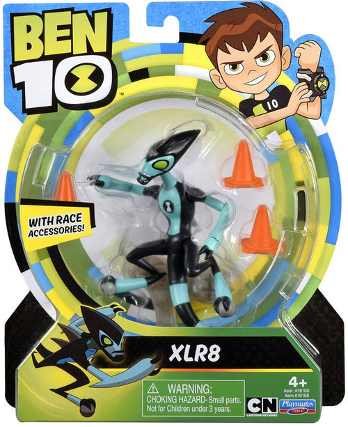 Ben 10 Basic XLR8 Action Figure [Race Accessories, Damaged Package]
