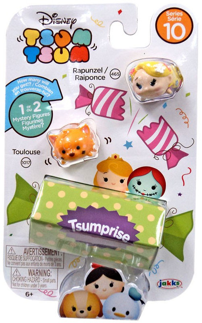 Disney Tsum Tsum Series 10 Rapunzel & Toulouse 1-Inch Minifigure 3-Pack #465 & 1017 [Damaged Package]