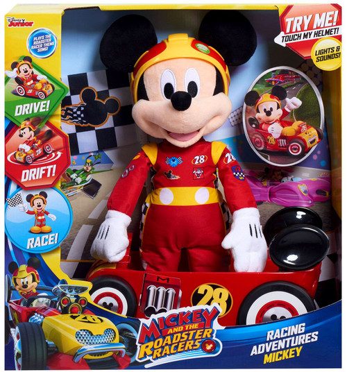 Disney Mickey & Roadster Racers Racing Adventures Mickey Figure [Lights & Sounds, Damaged Package]