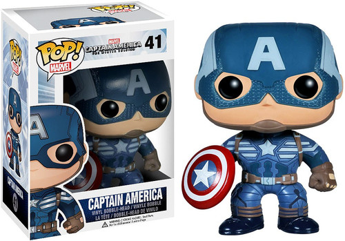 Funko Captain America: The Winter Soldier POP! Marvel Captain America Vinyl Bobble Head #41 [Winter Soldier, Damaged Package]
