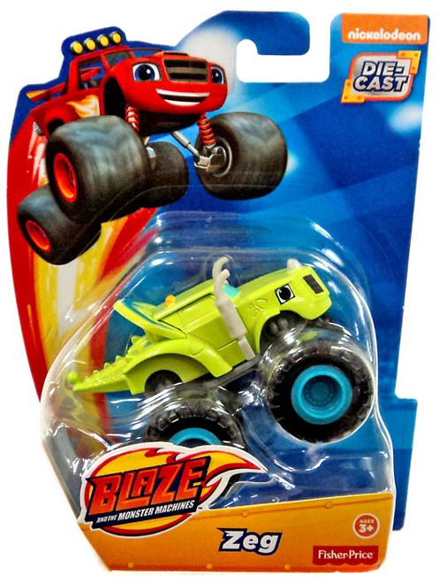 Fisher Price Blaze & the Monster Machines Zeg Diecast Car [Loose]