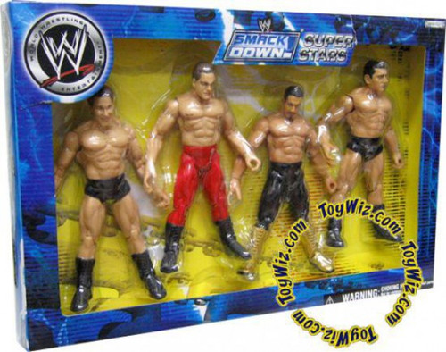 WWE Wrestling Exclusives Smack Down Super Stars Exclusive Action Figure 4-Pack [Damaged Package]