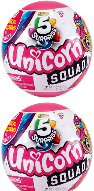 5 Surprise Unicorn Squad Series 1 LOT of 2 Mystery Packs