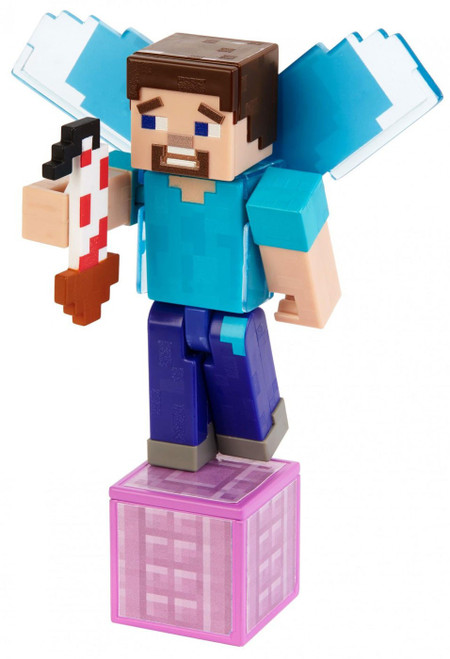 Minecraft Comic Maker Steve with Elytra Action Figure