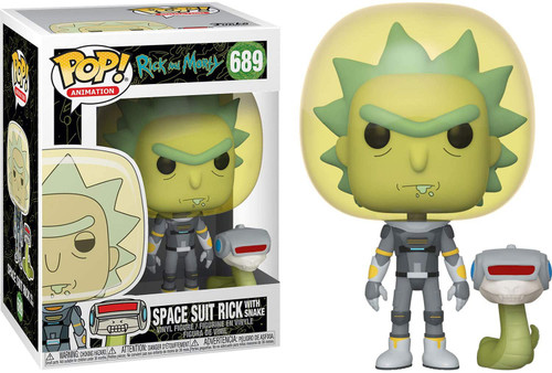 Funko Rick & Morty POP! Animation Space Suit Rick Vinyl Figure #689 [with Snake]