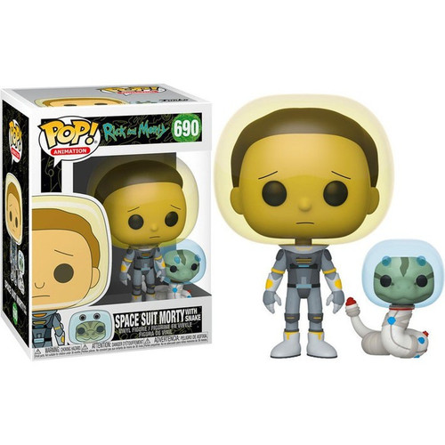 Funko Rick & Morty POP! Animation Space Suit Morty Vinyl Figure #690 [with Snake]