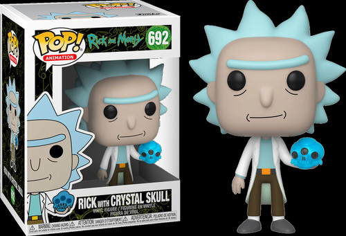 Funko Rick & Morty POP! Animation Rick with Crystal Skull Vinyl Figure #692