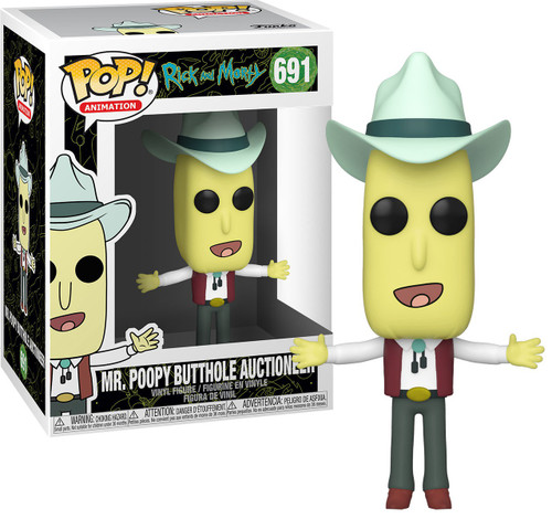 Funko Rick & Morty POP! Animation Mr. Poopy Butthole Auctioneer Vinyl Figure