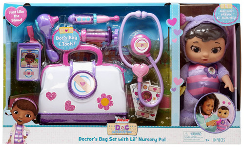 Disney Doc McStuffins Pet Rescue Doctor's Bag Set with Lil' Nursery Pal Exclusive Playset [Lil' Butterfly, Damaged Package]