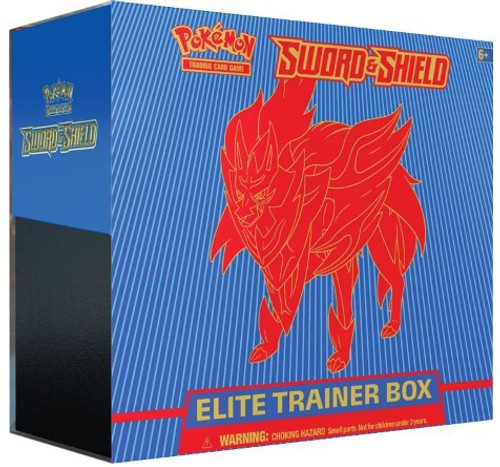 Pokemon Trading Card Game Sword & Shield Zamazenta Elite Trainer Box [8 Booster Packs, 65 Card Sleeves, 45 Energy Cards & More!]