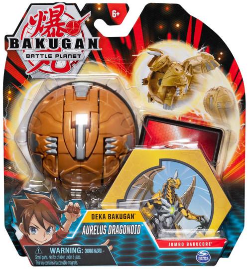 Bakugan Battle Planet Deka Aurelus Dragonoid Figure [Jumbo Bakucore]