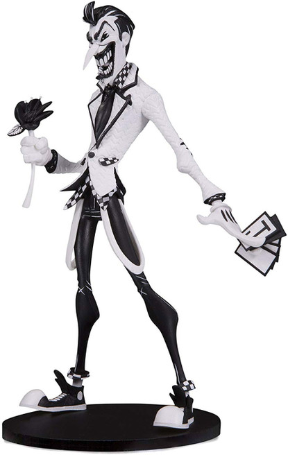 "DC Artist Alley The Joker 6.75-Inch PVC Collector Statue [Hainau ""Nooligan"" Saulque, Black & White Variant]"