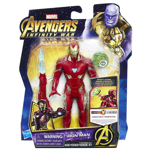 Marvel Avengers Infinity War Iron Man Action Figure [with Stone, Damaged Package]