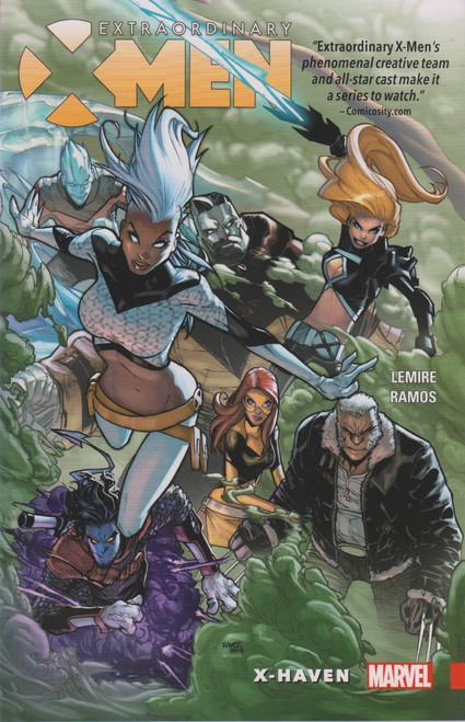 Marvel Comics Extraordinary X-Men X-Haven Trade Paperback Comic Book #1 [Sun Damage on the Spine]