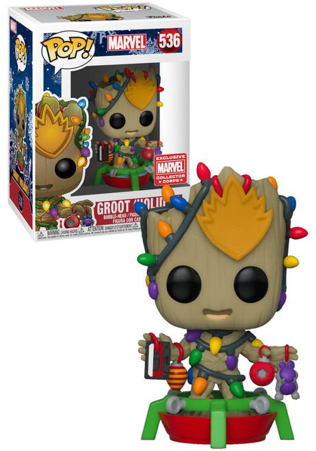 Funko POP! Marvel Groot Exclusive Vinyl Figure #536 [Holiday]