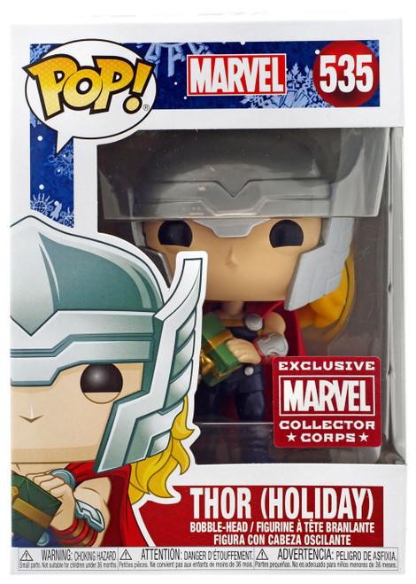 Funko POP! Marvel Thor Exclusive Vinyl Figure #535 [Holiday]