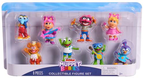 Disney Junior Muppet Babies Gonzo, Fozzie, Piggy, Kermit, Animal, Summer 2.5-Inch Mini Figure 8-Pack