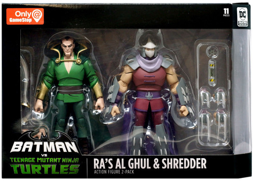 DC Teenage Mutant Ninja Turtles Batman vs TMNT Ra's Al Ghul & Shredder Exclusive Action Figure 2-Pack