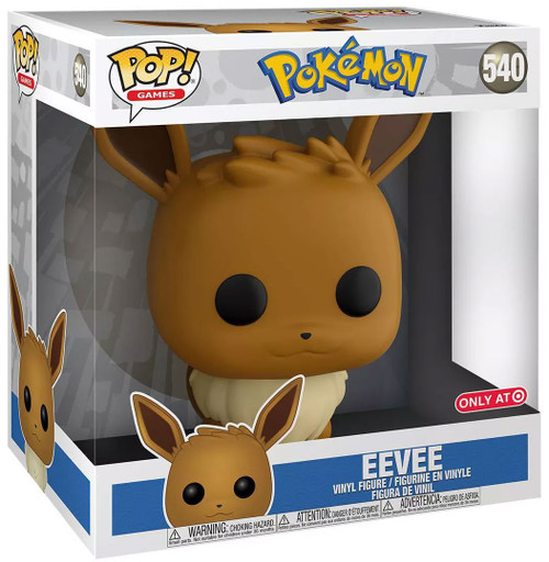 Funko Pokemon POP! Games Eevee Exclusive 10-Inch Vinyl Figure #540 [Sitting]