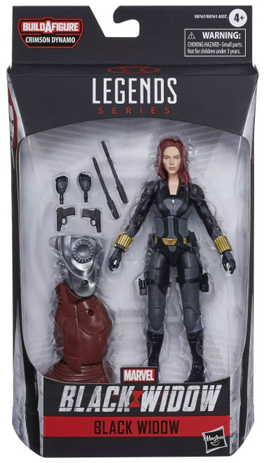 Marvel Legends Crimson Dynamo Series Black Widow Action Figure
