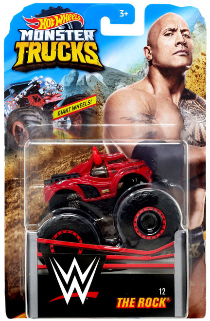 Hot Wheels Monster Trucks WWE The Rock Diecast Car