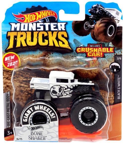 Hot Wheels Monster Trucks Bone Shaker Diecast Car [Black & White]