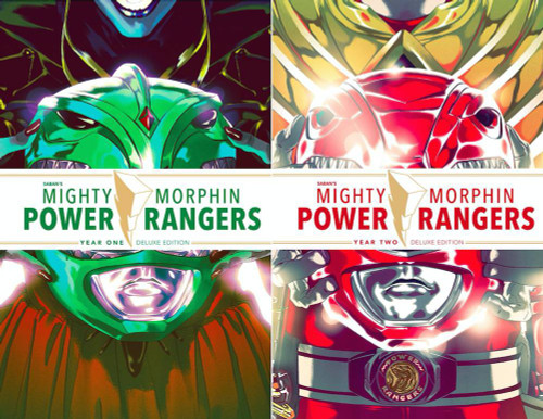 Boom Studios Mighty Morphin Power Rangers Year One & Year Two Deluxe Hard Cover Comic Books [Local Comic Shop Day Bundle]