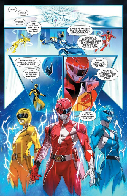 Boom Studios Mighty Morphin Power Rangers #40 Necessary Evil Comic Book [Unlocked Story Variant Cover]