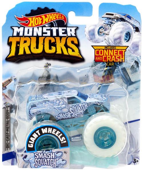 Hot Wheels Monster Trucks Blizzard Bashers Smash Squatch Diecast Car
