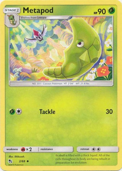 Pokemon Trading Card Game Hidden Fates Uncommon Metapod #2