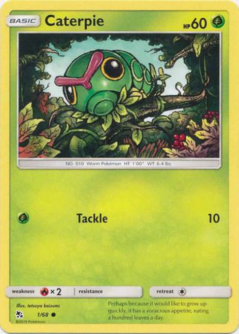 Pokemon Trading Card Game Hidden Fates Common Caterpie #1