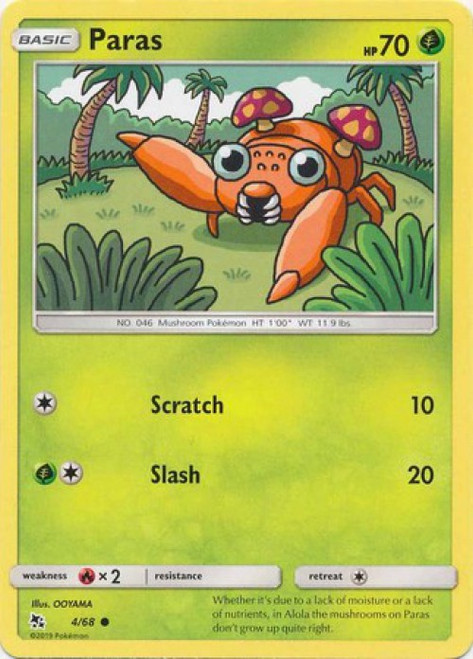 Pokemon Trading Card Game Hidden Fates Common Paras #4