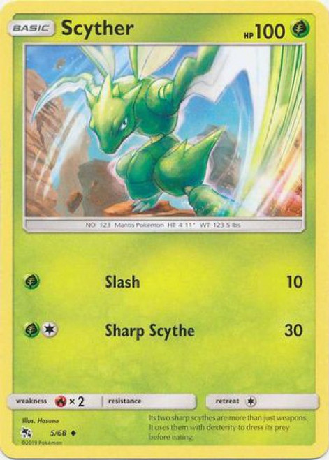 Pokemon Trading Card Game Hidden Fates Uncommon Scyther #5