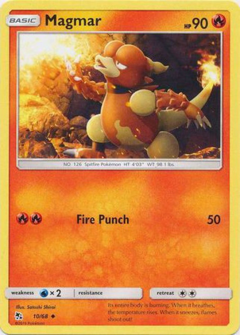 Pokemon Trading Card Game Hidden Fates Uncommon Magmar #10
