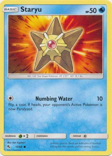 Pokemon Trading Card Game Hidden Fates Common Staryu #13