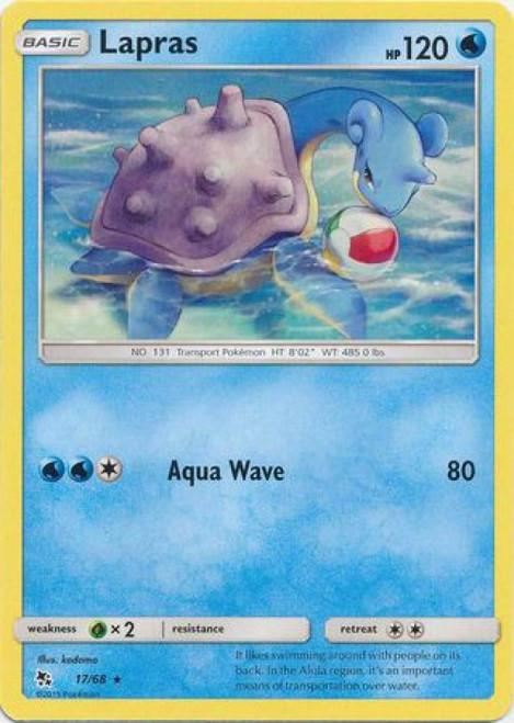 Pokemon Trading Card Game Hidden Fates Rare Lapras #17