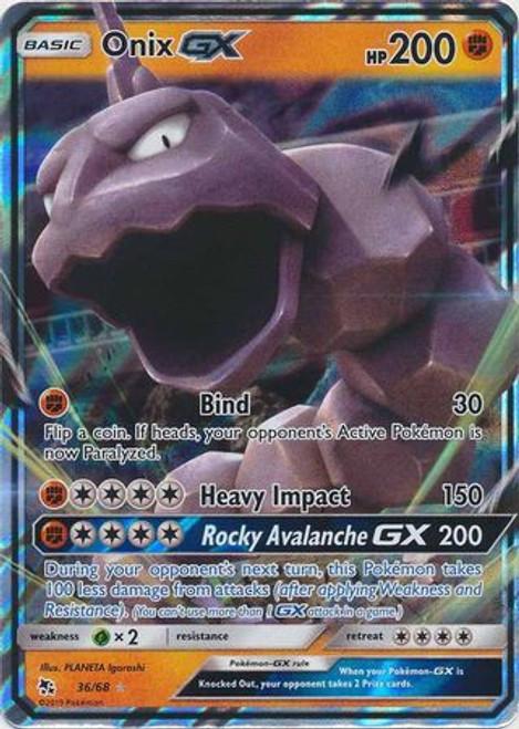 Pokemon Trading Card Game Hidden Fates Ultra Rare Onix GX #36