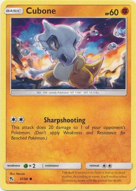 Pokemon Trading Card Game Hidden Fates Common Cubone #37