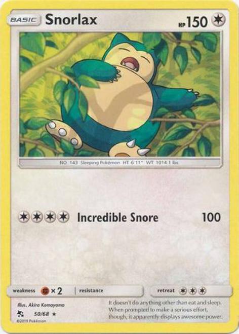 Pokemon Trading Card Game Hidden Fates Rare Snorlax #50