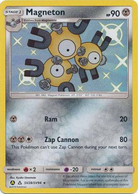 Pokemon Trading Card Game Hidden Fates Shiny Rare Magneton SV28